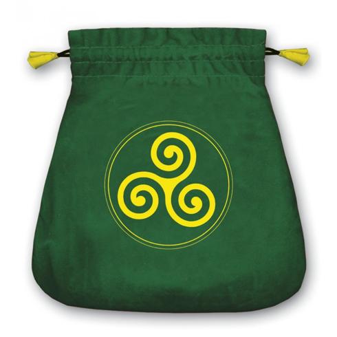 Bild på Tarotpåse: keltisk triskele (sammet)