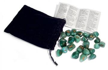 Bild på Green Aventurine Runes