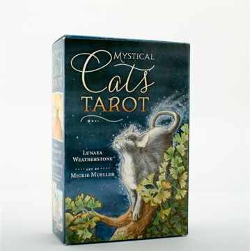 Bild på Mystical Cats Tarot (78-card deck & 312-page book)