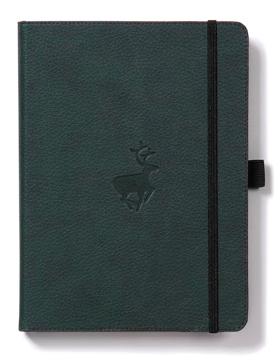 Bild på Dingbats* Wildlife A4+ Green Deer Notebook - Lined