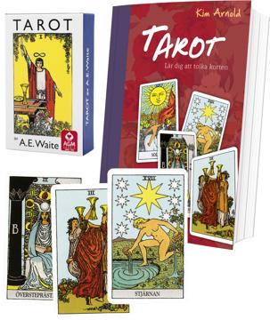 Bild på Tarotpaket: Tarot bok + Waite svensk tarot (standardstorlek)