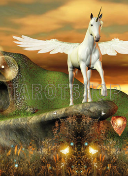 Bild på Magic Unicorn with Wings