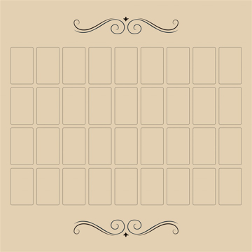 Bild på Grand Tableau Lenormand Cloth (60x60 cm)